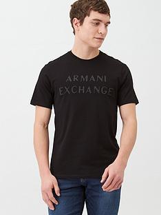 armani-exchange-tonal-rubber-logo-t-shirt-black