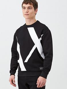 armani-exchange-large-ax-logo-sweatshirt-black