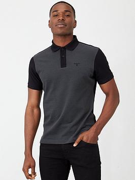 barbour-bonar-polo-shirt-charcoalblack