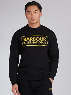 barbour-international-large-logo-sweatshirt-black