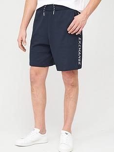 armani-exchange-taping-logo-jersey-shorts-navy