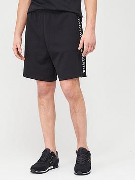armani-exchange-taping-logo-jersey-shorts-black