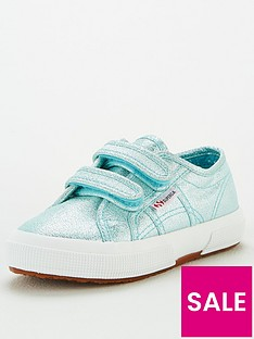 superga-girls-2750-cotj-lame-strap-plimsoll-pumps-blue
