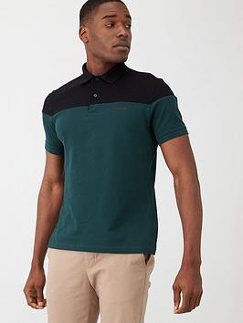 barbour-international-curve-colour-block-polo-shirt-tealblack