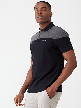 barbour-international-curve-colour-block-polo-shirt-charcoalblack