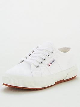 superga-girls-2750-jcot-classic-lace-up-plimsoll-pumps-white