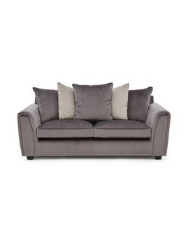 Odion Fabric 3 Seater Scatter Back Sofa