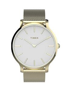 timex-timex-transcend-white-38mm-dial-gold-stainless-steel-mesh-strap-watch