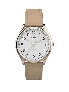 timex-timex-white-and-gold-detail-32mm-dial-cream-leather-strap-watch