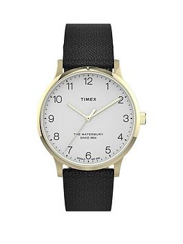 timex-timex-waterbury-white-and-gold-detail-36mm-dial-black-leather-strap-watch