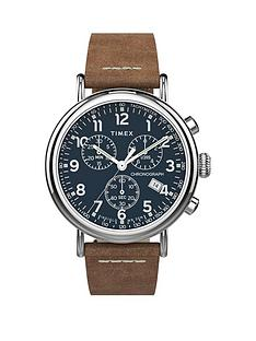 timex-timex-blue-and-silver-detail-chronograph-dial-tan-leather-strap-mens-watch