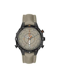 timex-timex-allied-tide-temp-and-compass-green-dial-green-fabric-strap-watch