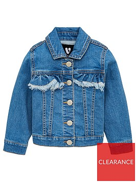v-by-very-girls-frill-detail-denim-jacket-blue