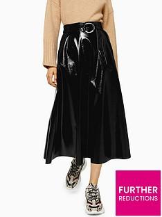 topshop-pu-full-midi-skirt-black