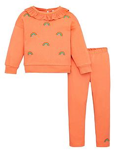 v-by-very-girls-2-piece-rainbow-embroidered-sweatshirt-and-leggings-set-bright-coral