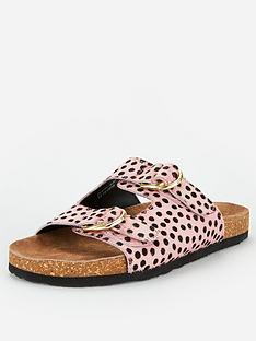 v-by-very-hazel-leather-buckle-footbed-sandal-pink-spot