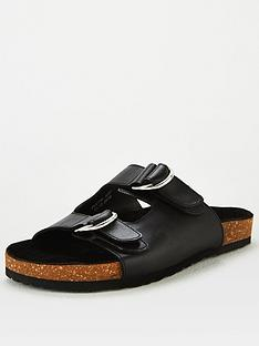 v-by-very-hazel-leather-buckle-footbed-sandal-black