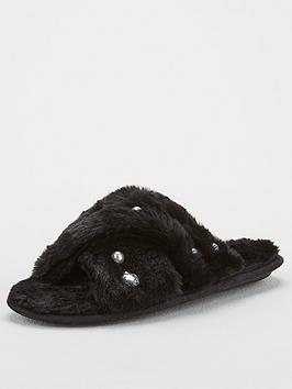 v-by-very-briana-cross-strap-embellished-slider-slippers-black