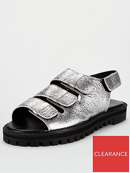 v-by-very-harrison-leather-chunky-sandals-pewter
