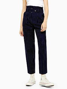 topshop-high-waist-pinstripe-trousers-navy