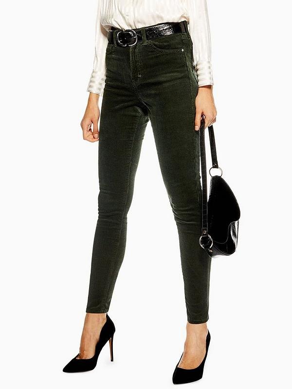 more photos authorized site detailed pictures Topshop Cord Jamie Jeans 32' - Green | very.co.uk