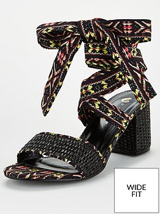 v-by-very-bree-wide-fit-tie-leg-sandal-print