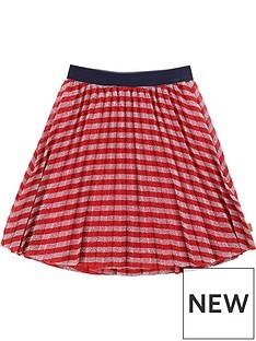 little-marc-jacobs-girls-stripe-lurex-pleat-skirt-redpink