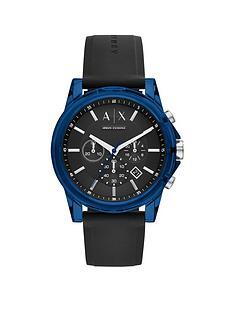 armani-exchange-armani-exchange-black-and-blue-detail-chronograph-dial-black-silicone-strap-mens-watch