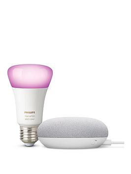 google-chalk-mini-with-philips-colour-bulb-e27