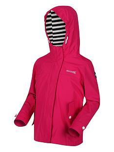 regatta-girls-bibiana-striped-lined-hooded-jacket-pink