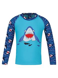 regatta-little-adventurers-shark-valo-rash-swim-set-blue