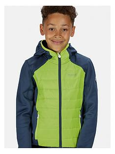 regatta-boys-keilder-hybrid-iii-hooded-jacket-navygreen
