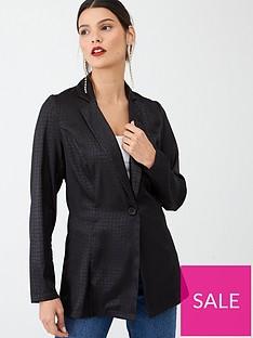 v-by-very-jacquard-soft-tailored-blazer-black