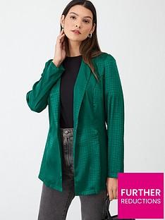 v-by-very-jacquard-soft-tailored-blazer-green