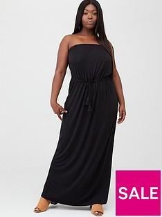 v-by-very-curve-bandeau-jersey-maxi-dress-black