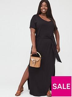 v-by-very-curve-maxi-t-shirt-dress-black