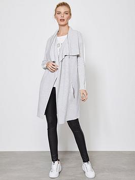 mint-velvet-zip-collar-longline-ottoman-cardigan-silvergrey
