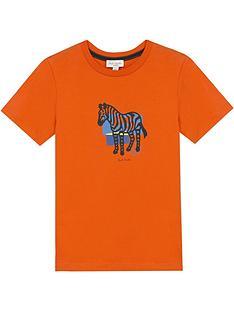 paul-smith-junior-boys-large-zebra-short-sleeve-t-shirt-orange