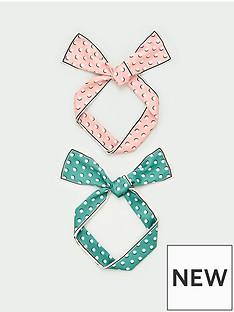 v-by-very-two-pack-polka-dot-hair-scarfs-pinkgreen