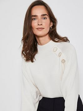 mint-velvet-button-placket-batwing-knit-jumper-cream