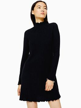topshop-topshop-cut-and-sew-shirred-mini-dress--black