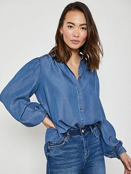 mint-velvet-full-sleeve-denim-shirt-blue