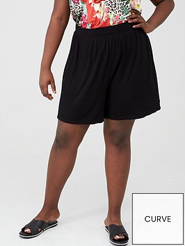 v-by-very-curve-jersey-short-black