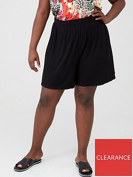 v-by-very-curve-jersey-short-black