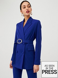 v-by-very-buckle-detail-colour-pop-jacket-cobalt