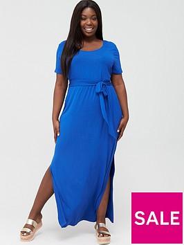 v-by-very-curve-maxi-t-shirt-dress-electric-blue