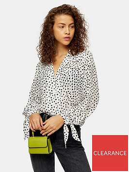 topshop-self-stripe-spot-shirt-ivory