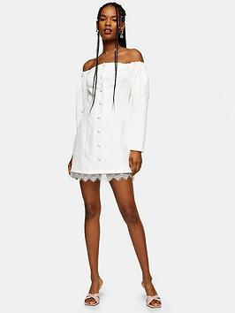 topshop-lace-bardot-mini-dress-ecru