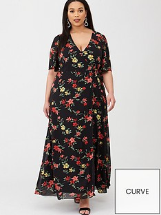 v-by-very-curve-wrap-front-maxi-tea-dress-print