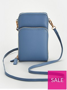 v-by-very-pia-north-south-double-pocket-cross-body-bag-blue